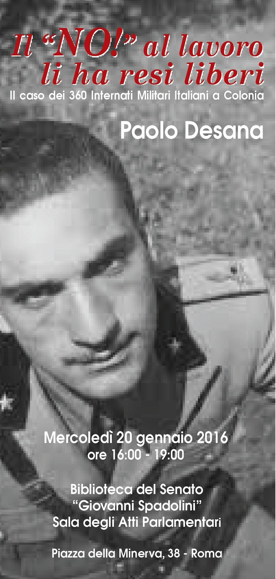 Il caso dei 360 internati militari italiani a colonia anrp for I parlamentari italiani