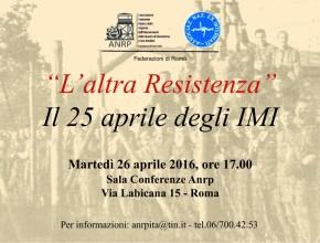 """""""L'altra Resistenza"""" Il 25 aprile degli IMI"""