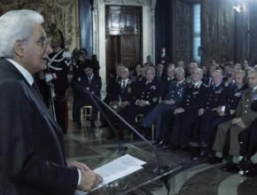 Il Presidente della Repubblica Mattarella incontra le associazioni combattentistiche e d'arma fra cui l'ANRP