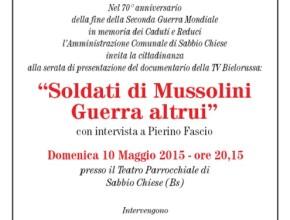 Soldati di Mussolini, guerra altrui