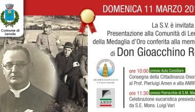 All'ANRP la Cittadinanza Onoraria di Lenola, il paese natale di Don Gioacchino Rey
