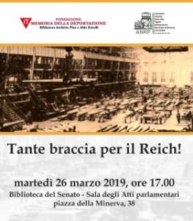 """Presentazione del volume: """"Tante braccia per il Reich!"""""""