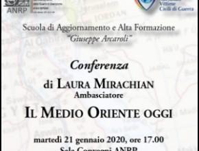 Conferenza dell'Ambasciatore Laura Mirachian: Il Medio Oriente oggi