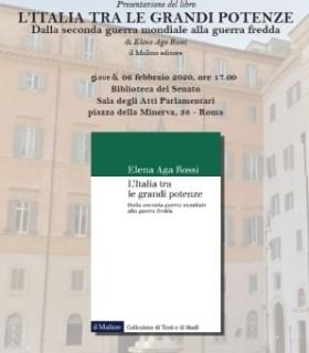 Presentazione del volume: L'Italia tra le grandi potenze
