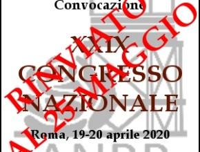 Rinvio del 29° Congresso Nazionale ANRP. Delibere, circolari e note