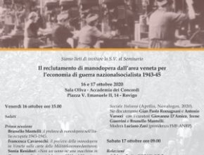 Seminario: il reclutamento di manodopera dall'area veneta per l'economia di guerra nazionalsocialista 1943-45