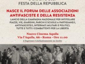 Nasce il Forum delle associazioni antifasciste e della Resistenza